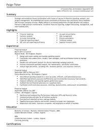 Finance Resume Template Noxdefense Com