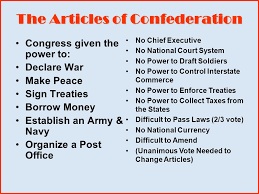 aim to argue whether or not the articles of confederation were a 11 the articles of confederation congress was given the power to america s 1 st constitution 1781 1789 difficult to amend unanimous vote needed to change