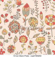cute flower pattern wallpaper. Exellent Wallpaper Flower Pattern Handdrawn Cute Doodle  Csp27394250 And Cute Pattern Wallpaper A