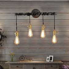hanging track lighting. industrial 4light plumbing pipe hanging exposed bulb metal wall light indoor lights track lightingwall lighting