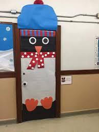 cool door decorating ideas. Cool Penguin In Snow Christmas Door Decoration School Decorating Ideas C