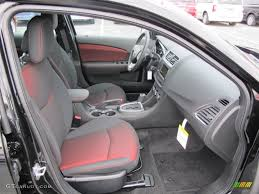 Black/Red Interior 2012 Dodge Avenger SXT Plus Photo #60804179 ...