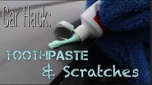 life using toothpaste to remove simple car scratches