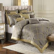gray and gold bedding. Beautiful Gray Amazoncom BombayGarrisonPewter GoldGray GreyQueen Comforter Set Home  U0026 Kitchen On Gray And Gold Bedding