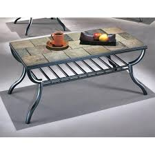 metal and tile coffee table slate rectangular in throughout tables ideas 14