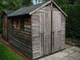 8 x 6 wooden garden shed good condition double doors 3