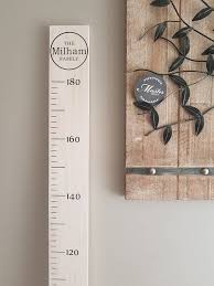Etsy Height Chart Personalised Family Timber Height Chart Wooden Growth Ruler White Wash