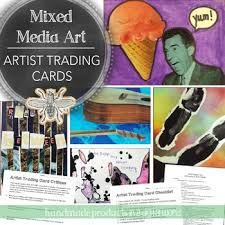 Trading Card Size Chart Artist Trading Cards Mixed Media Mini Art Project For 4th 12th Grade
