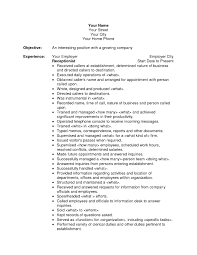 Receptionist Resume Sample Template Free Pertaining To For Front