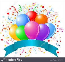 Balloon Birthday Card Design Illustration Of Birthday Balloons Design