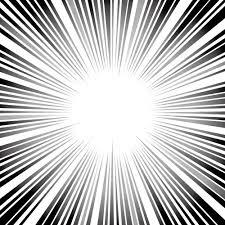 白黒の集中線素材 無料商用可能マンガ素材 イラレ用epsとpng画像
