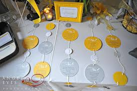 Yellow Seating Chart Promontory Point Wedding Photos