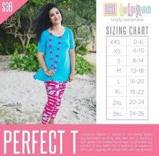 Classic Lularoe Size Chart Sizing Chart For Lularoe Perfect T Www Bedowntowndaytona Com