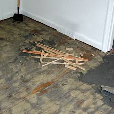 remove glue residue from floors