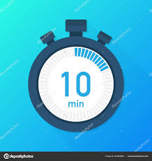 10 Minuite Timer The 10 Minutes Stopwatch Vector Icon Stopwatch Icon In