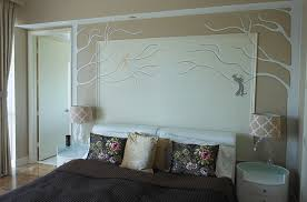 bedroom wall decor bedroom decor with hand painted wall panel