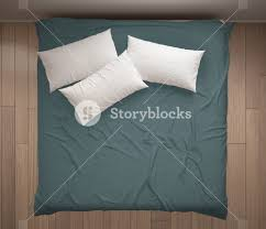 Bed top view Floor Plan Minimalistic Bedroom Top View Closeup On Double White And Blue Bed Parquet Floor Chemlinkinfo Minimalistic Bedroom Top View Closeup On Double White And Blue Bed