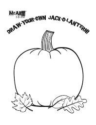 mcart à la carte draw your own jack o lantern