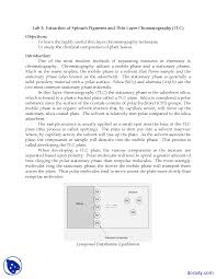 Chromatography Lab Thin Layer Chromatography General Chemistry Lab Handout