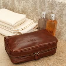 luxury leather toiletry bag the raffaelle
