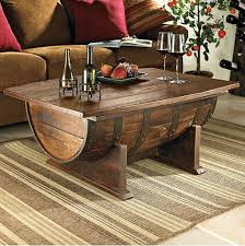 coffee table designs diy. DIY Coffee Tables: Make A Coffee Table Out Of Wine Barrel Designs Diy