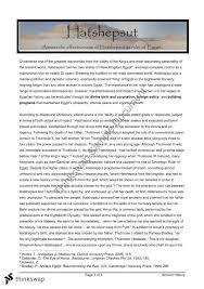 hatshepsut essay year hsc ancient history thinkswap hatshepsut essay