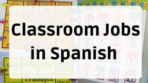 Classroom Helpers Pocket Chart Classroom Jobs In Spanish Spanish Profe