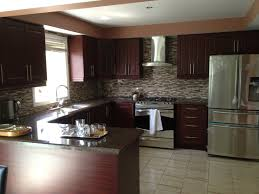 Delighful Modern Kitchen Backsplash Dark Cabinets Contemporary Ideas With Front Intended Simple