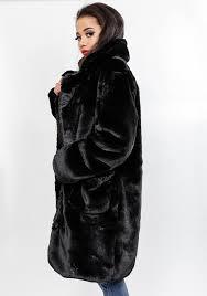 oversize faux fur jacket in black 7283 winter jackets fiorella com
