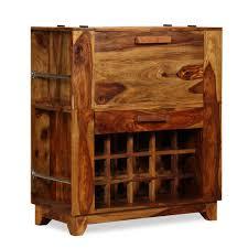 Barschrank Sheesham Holz Massiv 85x40x95 Cm