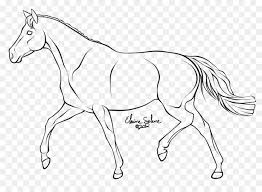 trotting horse drawing. Delighful Trotting Mule How To Draw A Horse Trot Line Art  Horse With Trotting Drawing O