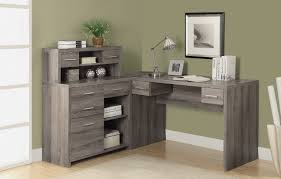 corner workstations for home office. Interior Modern Corner Desk Attractive Laminate Wood Construction Grey Oak Home Office White Plans Workstations For T