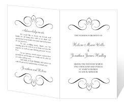 Free Printable Wedding Program Templates Vastuuonminun