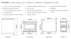 Heavy Duty Microwaves Sharp Extra Heavy Duty 1900w Commercial Microwave C W Cps1a Cavity