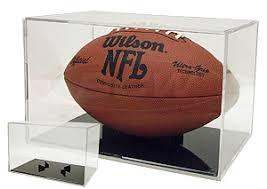 Football Display Stands BALLQUBE FOOTBALL GRAND STAND ACRYLIC DISPLAY CASE BLACK BASE 20