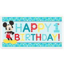 Banner Birthday Mickey Mouse 1st Birthday Banner Shopdisney
