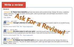 hey local businesses ask for a review elsue a
