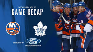 Toronto Maple Leafs Interactive Seating Chart Notebook Isles Beat Leafs 5 4 Point Streak Reaches 13