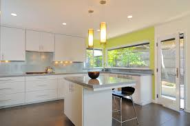 Lime Green Kitchen Walls Picture Of Medium Kitchen Design White Cabinetry In White Theme