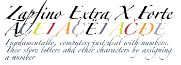 forte font zapfino extra x forte fonts com