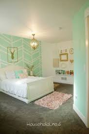 big bedrooms for girls. Little Girls Mint And Gold Bedroom, Harringbone Wall, Kids Space.Household No. Big Bedrooms For