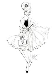 Fashion Dress Sketches Black And White Rise Up With Kacey Mccallister
