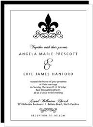 fleur de lis wedding invitation. black and white fleur de lis wedding invite invitation o