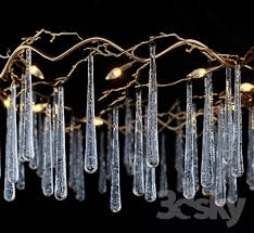 john richard brass and glass teardrop eight light chandelier 3dsmax 2016 fbx corona