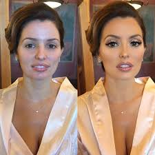 this is full on makeup it s beautiful but there is nothing natural about it if you are not fortable with full coverage foundation filled in eyebrows