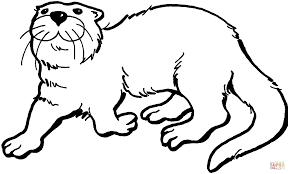 Blije Otter Kleurplaat Gratis Kleurplaten Printen