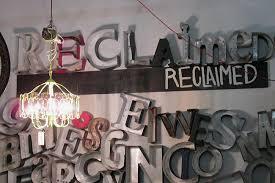 Reclaimed metal letters