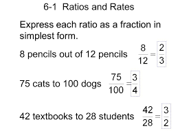 6 1 Ratios And Rates Express Each Ratio As A Fraction In Simplest