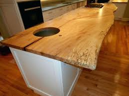 wood island countertop maple live edge island wood island countertop pros and cons