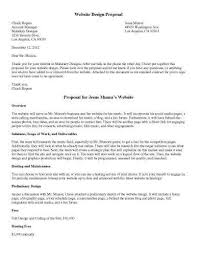 sample proposal templates in microsoft word website design proposal
